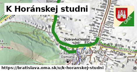K Horánskej studni, Bratislava