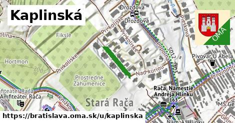 Kaplinská, Bratislava