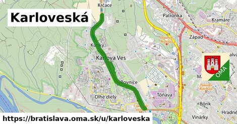 ilustrácia k Karloveská, Bratislava - 6,5km