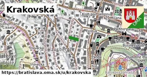 ilustrácia k Krakovská, Bratislava - 50m