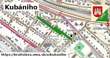 Kubániho, Bratislava