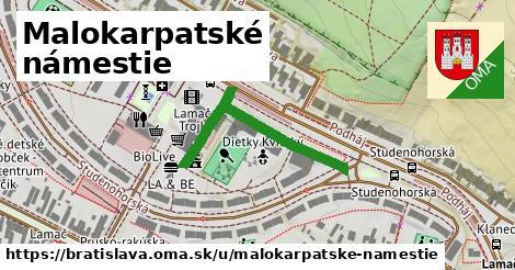 Malokarpatské námestie, Bratislava