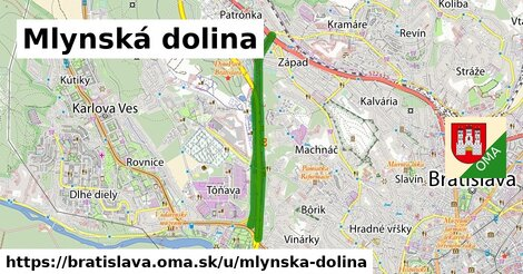 ilustrácia k Mlynská dolina, Bratislava - 4,5km