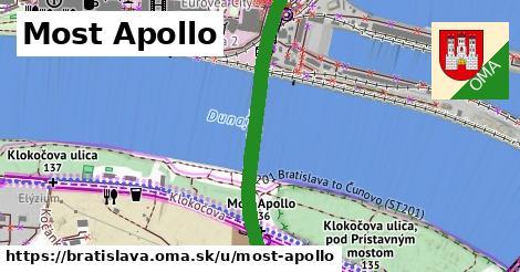 ilustrácia k Most Apollo, Bratislava - 1,71km