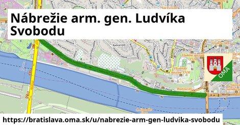 ilustrácia k Nábrežie arm. gen. Ludvíka Svobodu, Bratislava - 5,0km