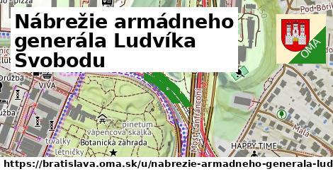 ilustrácia k Nábrežie armádneho generála Ludvíka Svobodu, Bratislava - 4,9km