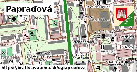 Papraďová, Bratislava