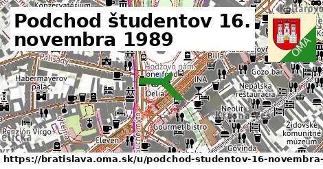 Podchod študentov 16. novembra 1989, Bratislava