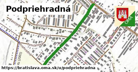 Podpriehradná, Bratislava