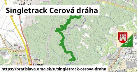 ilustrácia k Singletrack Cerová dráha, Bratislava - 9,8km