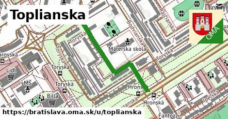 Toplianska, Bratislava