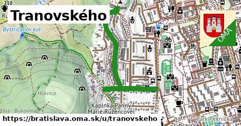 Tranovského, Bratislava