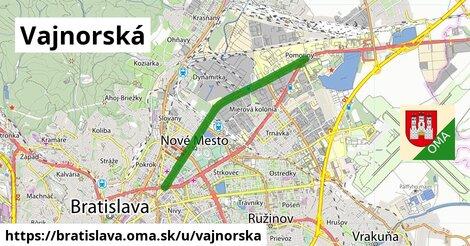 ilustrácia k Vajnorská, Bratislava - 10,1km