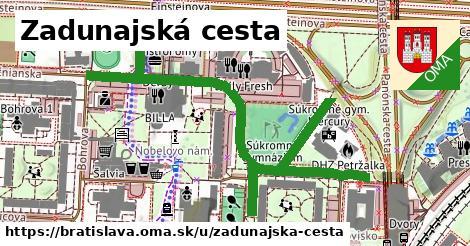Zadunajská cesta, Bratislava