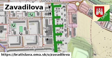 Zavadilova, Bratislava