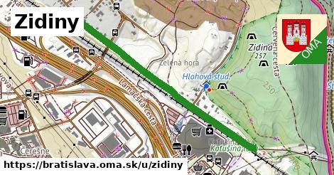 Zidiny, Bratislava