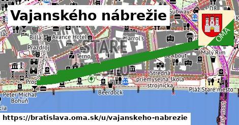 ilustrácia k Vajanského nábrežie, Bratislava - 1,09km
