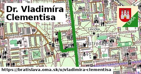 ilustrácia k Dr. Vladimíra Clementisa, Bratislava - 1,14km