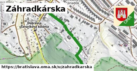 ilustrácia k Záhradkárska, Bratislava - 399m