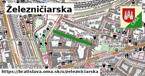 ilustrácia k Železničiarska, Bratislava - 215m