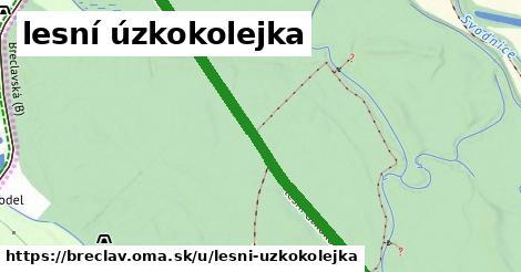 ilustrácia k lesní úzkokolejka, Břeclav - 2,0km