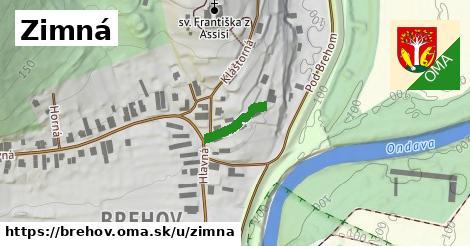 ilustrácia k Zimná, Brehov - 140m