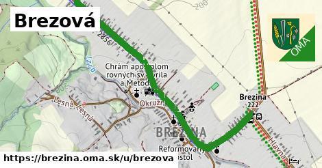ilustrácia k Brezová, Brezina - 1,21km