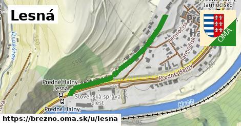 ilustrácia k Lesná, Brezno - 403m