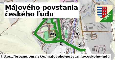 Májového povstania českého ľudu, Brezno
