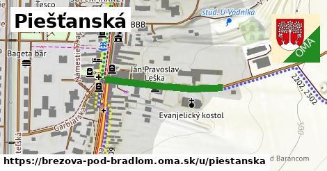 ilustrácia k Piešťanská, Brezová pod Bradlom - 268m