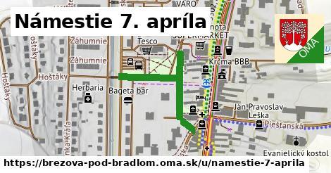 Námestie 7. apríla, Brezová pod Bradlom