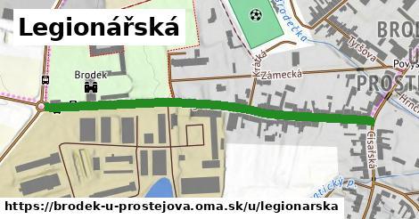 ilustrácia k Legionářská, Brodek u Prostějova - 581m