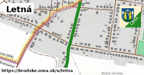 ilustrácia k Letná, Brodské - 375m