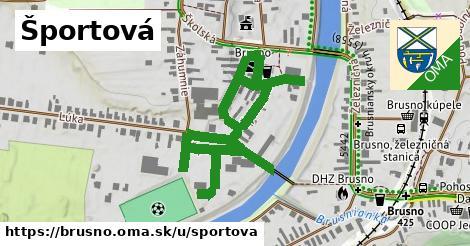 ilustrácia k Športová, Brusno - 403m