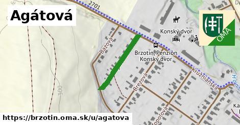ilustrácia k Agátová, Brzotín - 207m