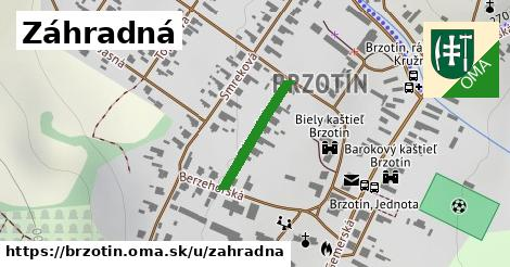 ilustrácia k Záhradná, Brzotín - 186m
