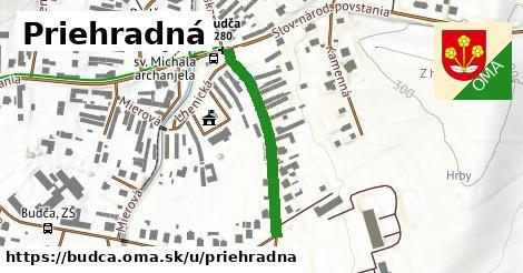 ilustrácia k Priehradná, Budča - 283m