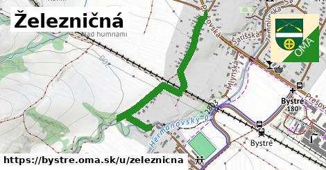 ilustrácia k Železničná, Bystré - 0,78km