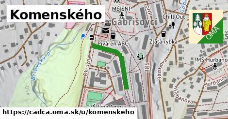 ilustrácia k Komenského, Čadca - 208m