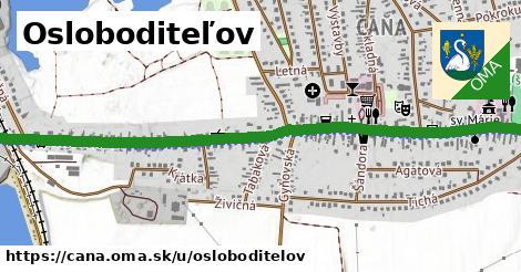 ilustrácia k Osloboditeľov, Čaňa - 2,2km