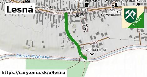 ilustrácia k Lesná, Čáry - 256m