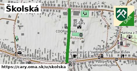 ilustrácia k Školská, Čáry - 295m