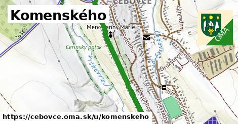 ilustračný obrázok k Komenského, Čebovce