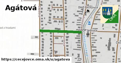 ilustrácia k Agátová, Čečejovce - 153m