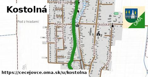 ilustrácia k Kostolná, Čečejovce - 1,04km