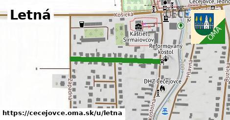 ilustrácia k Letná, Čečejovce - 292m