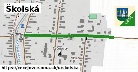 Školská, Čečejovce