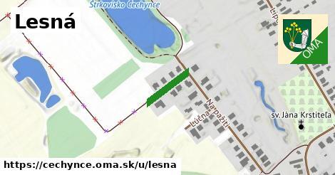 ilustrácia k Lesná, Čechynce - 130m