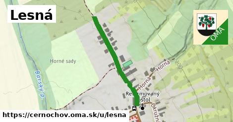 ilustrácia k Lesná, Černochov - 318m