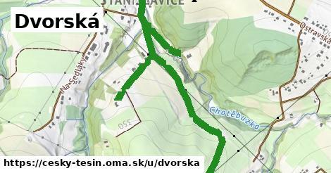 ilustrácia k Dvorská, Český Těšín - 2,2km